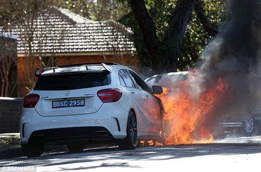 Mercedes-A45-AMG-Sydney-fire