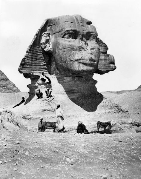 EGYPT: GREAT SPHINX. A view of the Great Sphinx, Giza, Egypt